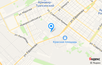Местоположение на карте пункта техосмотра по адресу Краснодарский край, г Армавир, ул Воровского, д 61