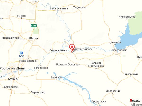 хутор Маломечетный на карте