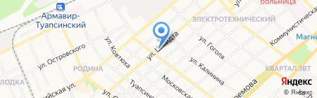 Мастерская по ремонту одежды на ул. Шмидта на карте Армавира