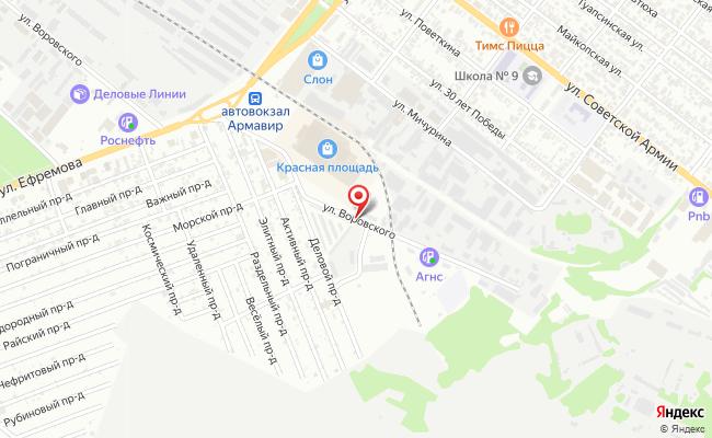 Карта расположения пункта доставки DPD Pickup в городе Армавир