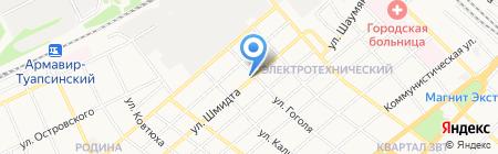 Вига на карте Армавира