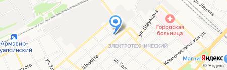 К на карте Армавира