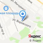 Суворовский редут-Кубань на карте Армавира