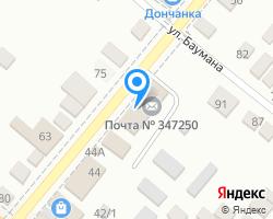 Схема местоположения почтового отделения 347250