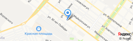 Средняя общеобразовательная школа №9 на карте Армавира