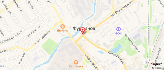 Карта расположения пункта доставки Билайн в городе Фурманов