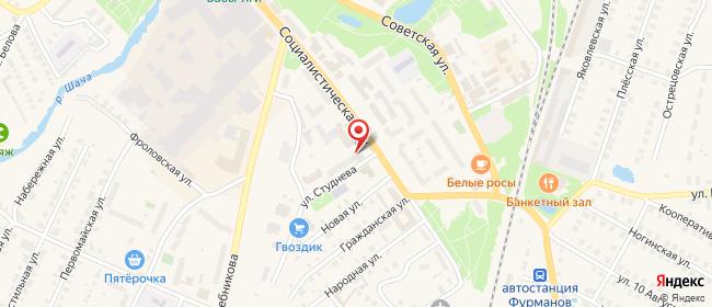 Карта расположения пункта доставки Фурманов Социалистическая в городе Фурманов