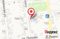 Схема проезда до компании Пекарня в Прочноокопской