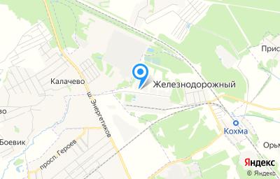 Местоположение на карте пункта техосмотра по адресу Ивановская обл, Ивановский р-н, с Железнодорожный, д 1