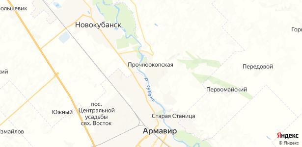 Прочноокопская на карте