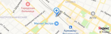 Казачье профессиональное училище №5 им. Е.Ф. Трофимова на карте Армавира
