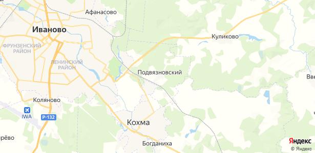 Подвязновский на карте