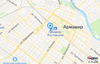 Местоположение на карте пункта техосмотра по адресу Краснодарский край, г Армавир, ул Карла Маркса, д 88