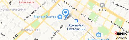 Армавирский пищекомбинат Лавина на карте Армавира