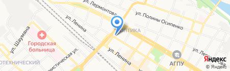 Телега на карте Армавира