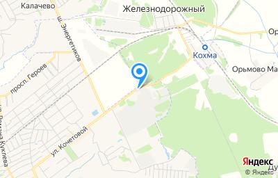 Местоположение на карте пункта техосмотра по адресу Ивановская обл, г Кохма, ул Кочетовой, д 1