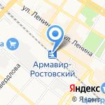 Армавир-Ростовский на карте Армавира