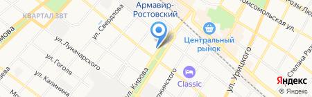 Закусочная на Кирова на карте Армавира