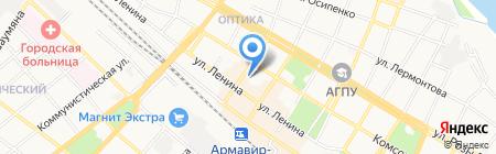 Почтовое отделение №4 на карте Армавира