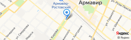 АЗС Роснефть на карте Армавира