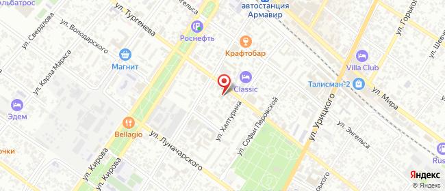 Карта расположения пункта доставки Магазин МирЭль в городе Армавир