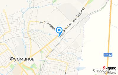 Местоположение на карте пункта техосмотра по адресу Ивановская обл, г Фурманов, ул Демьяна Бедного, д 22