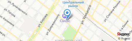 Силуэт Exclusive на карте Армавира