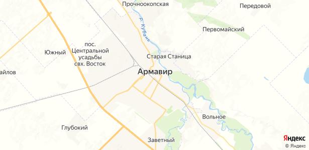 Армавир на карте