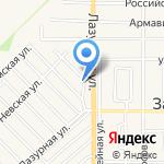 Архангельский лес на карте Армавира