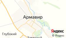 Гостиницы города Армавир на карте