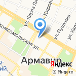 Управление Пенсионного фонда РФ в г. Армавире на карте Армавира