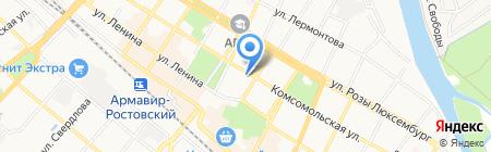 Метелица на карте Армавира