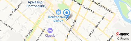 Мамонтенок на карте Армавира