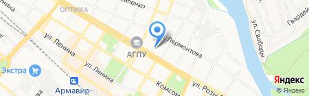 Адвокатский кабинет Черкашиной Д.Б. на карте Армавира
