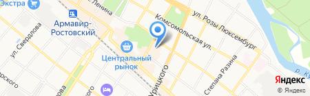 Доктор Гаврилов на карте Армавира