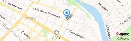 Средняя общеобразовательная школа №6 на карте Армавира