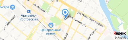 Красотка на карте Армавира