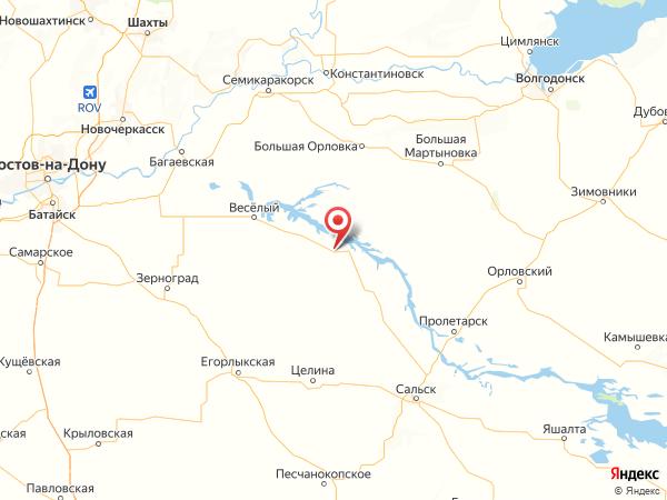 хутор Красный Маныч на карте
