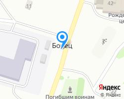 Схема местоположения почтового отделения 391875