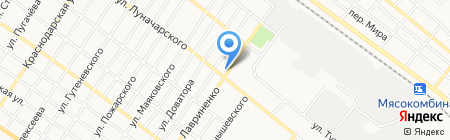 Сеть мастерских на карте Армавира