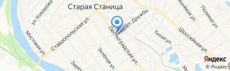Сим-Сим на карте Старой Станицы