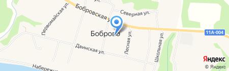 Администрация муниципального образования Коскогорское на карте Боброво