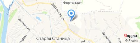Компания по эвакуации автомобилей на карте Старой Станицы
