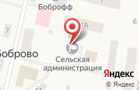 Схема проезда до компании Участковый пункт полиции №7 в Боброво