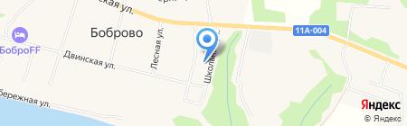 Бобровская средняя общеобразовательная школа на карте Боброво