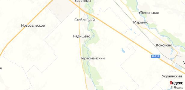 Красин на карте