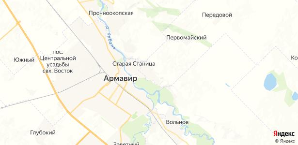 Прикубанский на карте