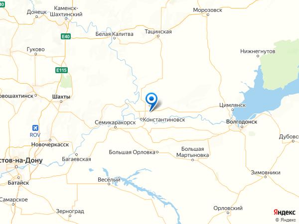 хутор Камышный на карте