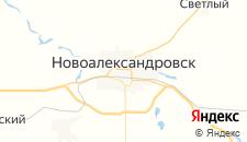 Гостиницы города Новоалександровск на карте