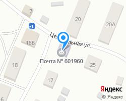 Схема местоположения почтового отделения 601960